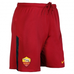 17-18 Roma Home Red Soccer Jersey Short