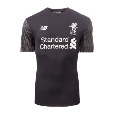 17-18 Liverpool Goalkeeper Black Soccer Jersey Shirt