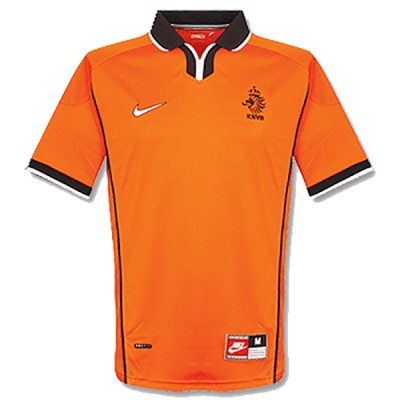 1998 Netherlands Retro Home Soccer Jersey Shirt