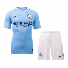 17-18 Manchester City Home Jersey Kit(Shirt+Short)