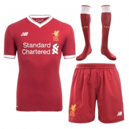 17-18 Liverpool Home Soccer Jersey Whole Kit(Shirt+Short+Socks)