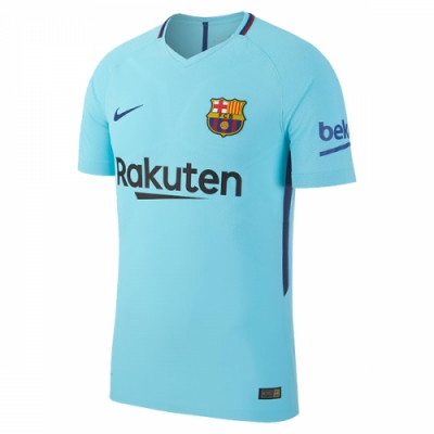 17-18 Barcelona Away Blue Soccer Jersey Shirt