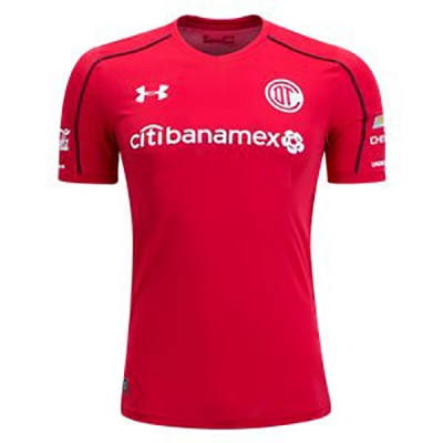 17-18 Deportivo Toluca Home Red Jersey Shirt