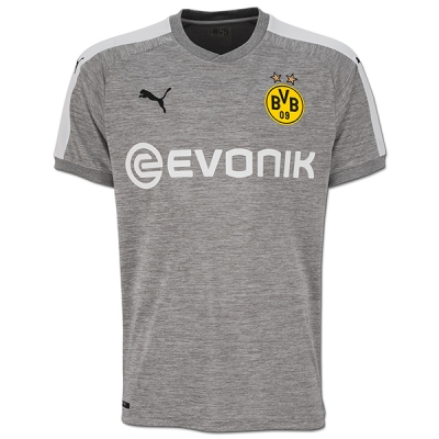 17-18 Borussia Dortmund Third Away Gray Soccer Jersey Shirt