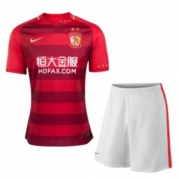17-18 Guangzhou Evergrande Home Jersey Kit(Shirt+Short)