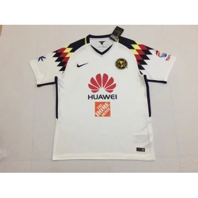 17-18 Club America White Training Jersey Shirt