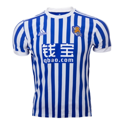 17-18 Real Sociedad Home Soccer Jersey Shirt