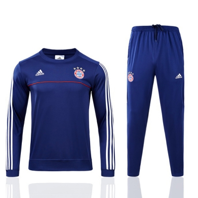 17-18 Bayren Munich Navy Stripe Training Kit(Sweat+Trouser)