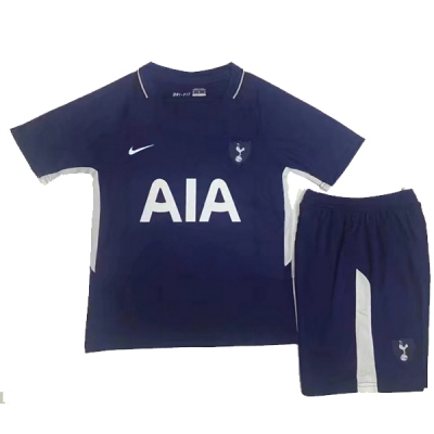 17-18 Tottenham Hotspur Away Navy Children's Jersey Kit(Shirt+Short)
