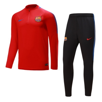 17-18 Barcelona Red Training Kit(Zipper Shirt+Trouser)