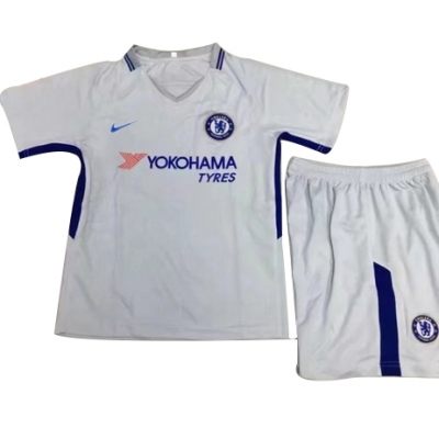 17-18 Chelsea Away White Children's Jersey Kit(Shirt+Short)