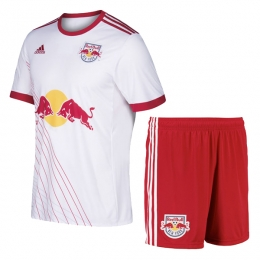 17-18 New York Red Bulls Home White Jersey Kit(Shirt+Short)