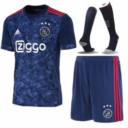 17-18 Ajax Away Soccer Jersey Whole Kit(Shirt+Short+Socks)