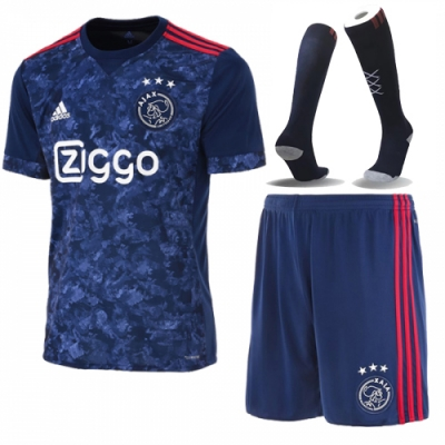 17-18 Ajax Away Soccer Jersey Whole Kit(Shirt+Short+Socks)