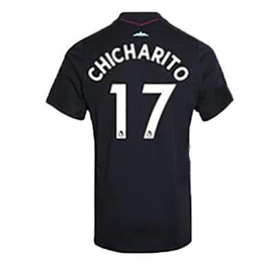 17-18 West Ham United Away Black CHICHARITO #17 Soccer Jersey Shirt
