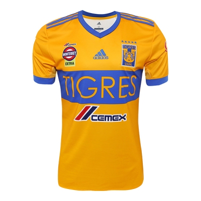 17-18 Tigres UANL Home Soccer Jersey Shirt
