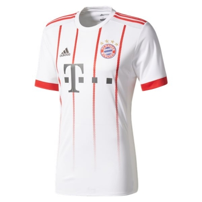17-18 Bayern Munich Third Away White&Red Jersey Shirt