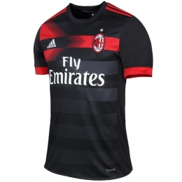 17-18 AC Milan Third Away Black Soccer Jersey Shirt