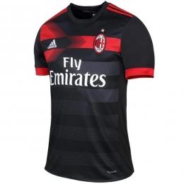 17-18 AC Milan Third Away Black Soccer Jersey Shirt