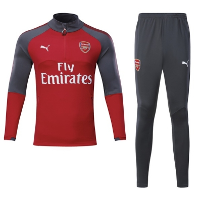 17-18 Arsenal Red Training Kit(Half Zipper Jacket+Trouser)