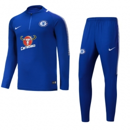 17-18 Chelsea Blue Training Kit(Half Zipper Jacket+Trouser)