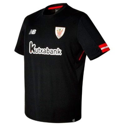 17-18 Athletic Bilbao Away Black Jersey Shirt