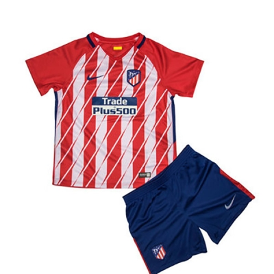 17-18 Atletico Madrid Home Children's Jersey Kit(Shirt+Short)