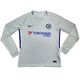 17-18 Chelsea Away White Long Sleeve Jersey Shirt