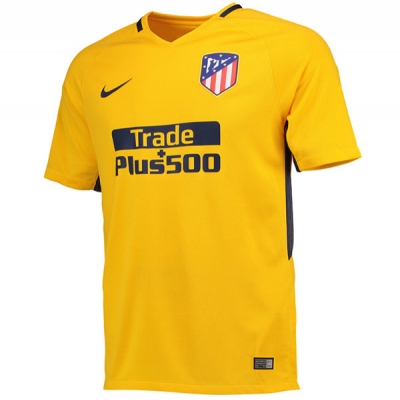 17-18 Atletico Madrid Away Yellow Soccer Jersey Shirt