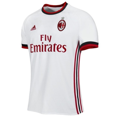 17-18 AC Milan Away White Soccer Jersey Shirt