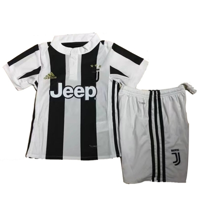 17-18 Juventus Home Children's Jersey Kit(Shirt+Short)