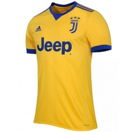 17-18 Juventus Away Yellow Soccer Jersey Shirt(Player Version)
