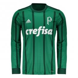 17-18 Palmeiras Home Long Soccer Jersey Shirt