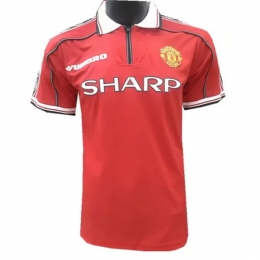 98-99 Manchester United Home Retro Jersey Shirt