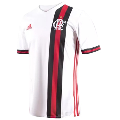 17-18 CR Flamengo Away White Soccer Jersey Shirt