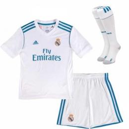 17-18 Real Madrid Home Children's Jersey Kit(Shirt+Short+socks)
