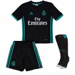 17-18 Real Madrid Away Black Children's Jersey Kit(Shirt+Short+socks)