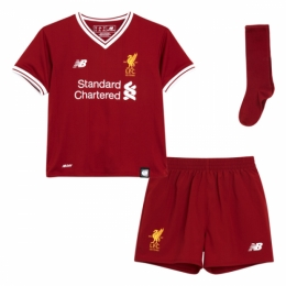 17-18 Liverpool Home Children's Jersey Whole Kit(Shirt+Short+Socks)