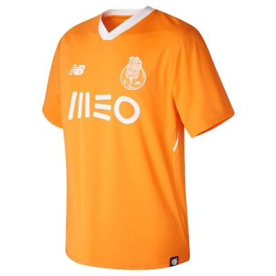 17-18 Porto Away Orange Soccer Jersey Shirt