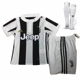 17-18 Juventus Home Children's Jersey Whole Kit(Shirt+Short+Socks)
