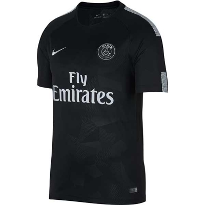 17-18 PSG Third Away Black Soccer Jersey Shirt