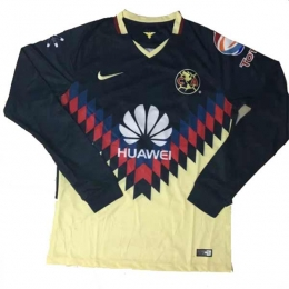 17-18 Club America Home Long Sleeve Soccer Jersey Shirt