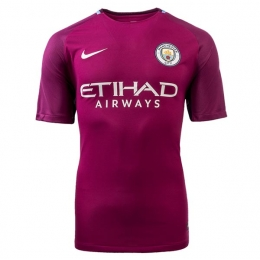 17-18 Manchester City Away Purple Jersey Shirt(Player Version)