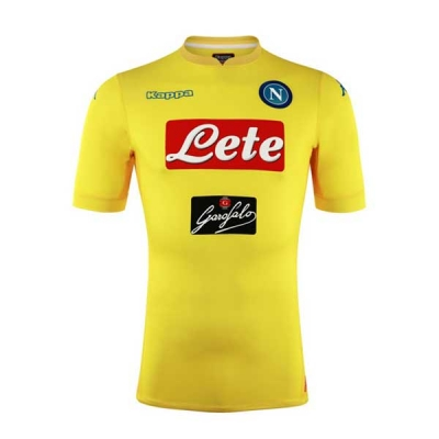 17-18 Napoli Away Yellow Soccer Jersey Shirt