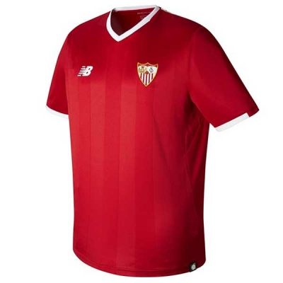 17-18 Sevilla Away Red Soccer Jersey Shirt