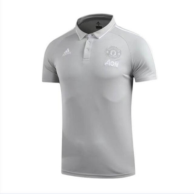 Manchester United Core Polo Shirt-Gray