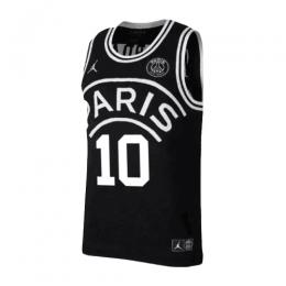 finest selection 12b3f 69648 PSG×JORDAN Neymar Jr #10 Black Basketball Jersey Shirt