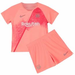 low priced 8f041 689cb 18-19 Barcelona Third Away Pink Children's Jersey Kit(Shirt+Short)