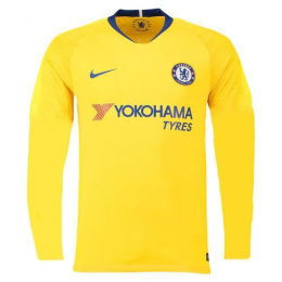 best service b05f1 0f68c 18-19 Chelsea Away Yellow Long Sleeve Jersey Shirt