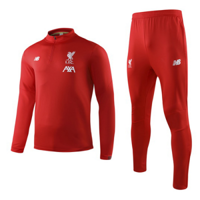 detailed look 229c4 5b672 19-20 Liverpool Red Sweat Shirt Kit(Top+Trouser)